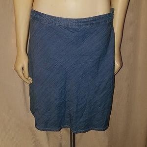 GAP soft denim skirt